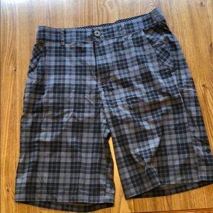 Lululemon Grey checkered shorts